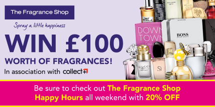 win a prize from the fragrance shop