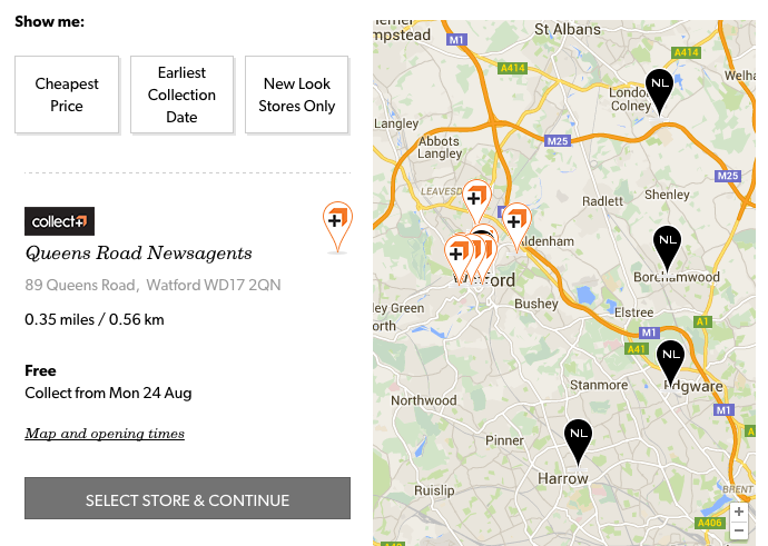New Look now offers CollectPlus click and collect