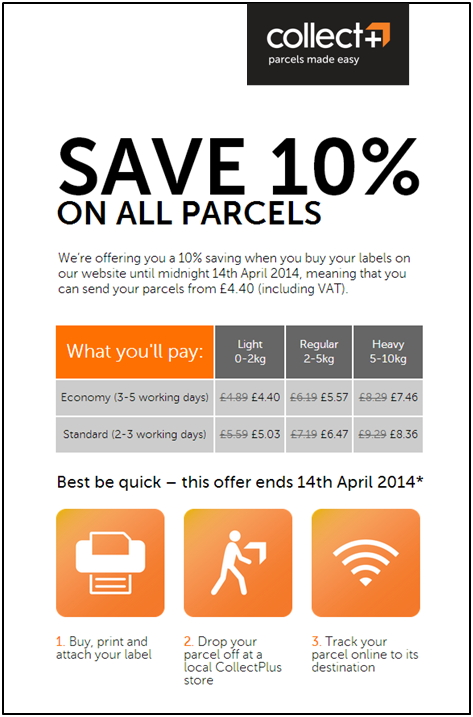Courier services send parcels with free tracking Collect and save